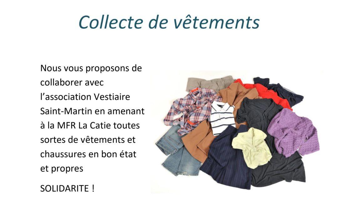 Collecte de vêtements organisée par les Term BAC PRO SAPAT !