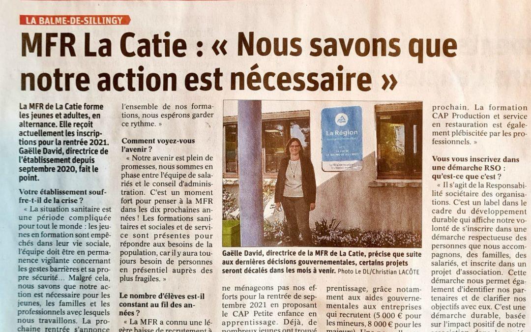 Un nouvel article dans le Dauphiné Libéré !