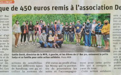 Un nouvel article dans le Dauphiné Libéré sur les actions des jeunes
